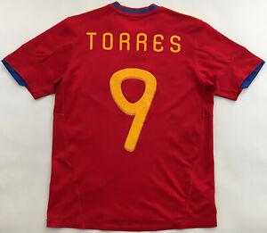 Spain #9 Torres World Cup 2010 shirt jersey Adidas camiseta España boys 164 cm