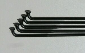 Custom length 14g(2.0/1.8mm) DOUBLE BUTTED BLACK Stainless J-bend bicycle spokes