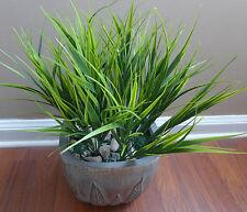 4 Artificial Green Grass Bushes Plastic Plant