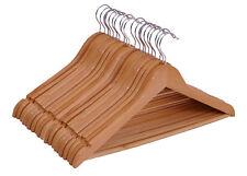 Holz Kleiderbügel natur - 20 Stück - Hosenbügel Anzugbügel Bügel Holzbügel