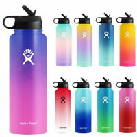 Hydro Flask Water Bottle Stainless Steel Insulated Wide Mouth Lid Straw Drink