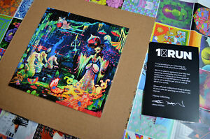 Camille Rose Garcia Limited Edition Blotter Artwork with Poster Psychedelic Art
