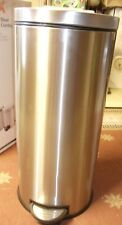 New HDX Stainless Steel Step Trash Can, 30 Liters