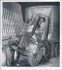 Murray Trucking Co Tractor Trailer in Wreck Ohio Plates Press Photo