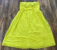 J.Crew Women Dress Citron Party Dress Strapless Wedding Dress 100% Silk Size 10