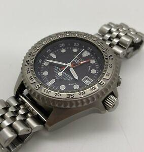 [w729] SEIKO 5M45-6A00 AGS LANDMASTER Date Titanium FR