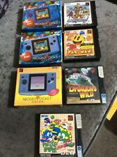 Neo geo pocket color boxed consoles and games