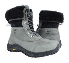 UGG Australia Adirondack II Charcoal Grey Leather Boots Womens Size 8 *NIB*