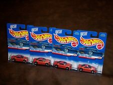 HOT WHEELS - 2000 FIRST EDITIONS - MUSCLE TONE- 4 CAR LOT - WHEEL VARIATION -NEW