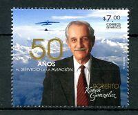 Mexico 2016 MNH Roberto Kobeh Gonzalez 50 Yrs Service Aviation 1v Set Stamps