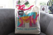MTV Music TELEVISIONE 100% COTONE FLAMINGO Tote NUOVO CON ETICHETTE