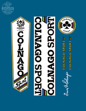 Vintage Colnago Sport Decals Autocollants Transfers UV Laminated
