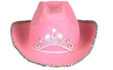 Hat Tiara Pink Blinking Cowboy Child Medium Size Flashing Cowgirl Girls Fun Play
