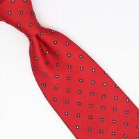 VTG Brooks Brothers Silk Necktie Red Green White Diamond Print Made in USA Tie