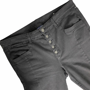 American Eagle Women 18 Jegging Next Level Stretch Super H Rise Button Fly Black