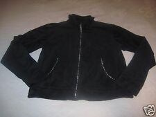 MIRROR IMAGE LADIES VELOUR LS ZIP TOP-PS-RHINESTONE DECO DOWN ZIPPER/POCKETS
