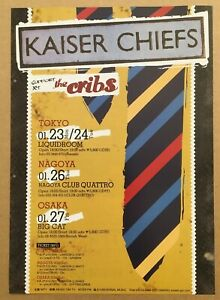 $0 ship! KAISER CHIEFS Japan PROMO flyer MINI poster 2006 tour THE CRIBS