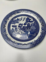 CHURCHILL Willow Blue Serving Platter 12.75 inches WOW