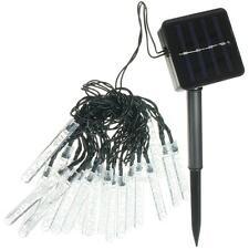 3.5M 20LED Solar Meteor Shower Outdoor Rain Tube Lamp String Fairy Light Decor