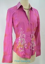 Robert Graham Embroidered Shirt L/S button blouse shabby distressed S NEW $199