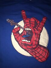 Santa Cruz Skateboards Graphic T Shirt Screaming Hand Marvel Comics Spider-Man