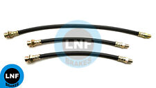 CHRYSLER IMPERIAL CROWN NEW YORKER WINDSOR BRAKE HOSE FRONT REAR X3 1946-1956