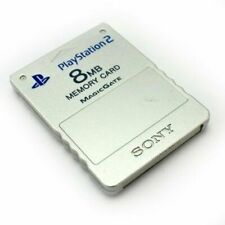 Official Sony PlayStation 2 silver Memory Card Genuine PS2