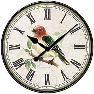 "Westclox Quartz 12"" Round Bird Wall Clock 32897BS"