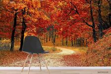 New Listing3D Autumn Forest Road Wallpaper Wall Murals Removable Wallpaper 293