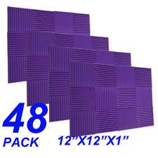 48Pack1x12x12  purple Acoustic Panels Studio Soundproofing Foam Wedge tiles