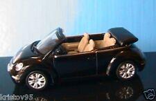 VW VOLKSWAGEN NEW BEETLE CABRIOLET 2003 BLACK NOIRE AUTOART 1/43 ROADSTER NOIR