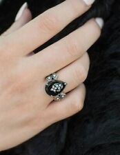 Victorian Trading Co Onyx Tear Drop Ring Sterling Silver Sz 9