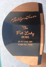 "BOBBY GRACE THE Fat Lady Swings PAT PEND RH 35"" BLACK AND COPPER DOVETAIL PUTTER"