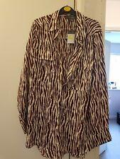 BNWT Primark Brown Stripe Shirt Blouse Size 14