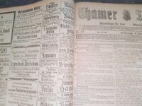 Cham 1919 Zeitung kompletter Jahrgang Chamer Tagblatt Kurier alt Oberpfalz bayer