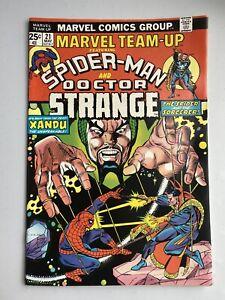 MARVEL TEAM-UP #21  VF+ (8.5)  DOCTOR STRANGE!  SPIDER-MAN! GIL KANE Cover! 1974
