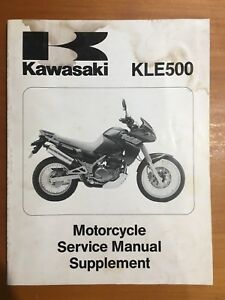 Kawasaki KLE500 Motorcycle Service Manual Supplement 1991 (99924-1142-51)