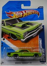 Hot Wheels 2011-110 Muscle Mania '11 '69 Dodge Coronet Super Bee 1:64 Scale LIME