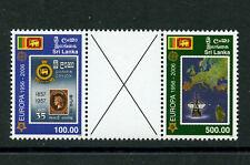 Gutter Pair Europa 50 years mnh set 2 stamps 2006 Sri Lanka #1539-40