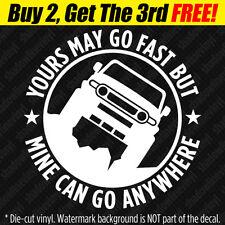 """GO ANYWHERE"" Vinyl Decal Sticker 4x4 SUV Off-Road Fits: Toyota FJ Cruiser"