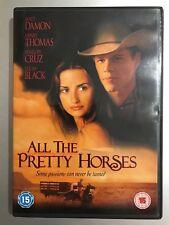MATT DAMON ALL THE PRETTY HORSES ~ 2000 CORMAC McCARTHY ROMÁNTICA Oeste GB DVD