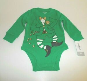 NEW Carter's LEPRECHAUN ONE-PIECE Infant 3 Mo ~ ST. PATRICK'S DAY Outfit Costume