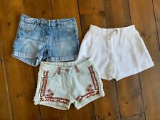 Ragazze Ex Zara Kids Pantaloncini di Jeans con effetto invecchiato