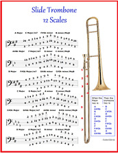 SLIDE TROMBONE CHART - 12 SCALES - A MASTER CLASS FOR IMPROVISATION !
