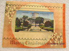 Xmas Card Pictures State Capitol & McKinley Memorial Columbus O. Gould J. Little
