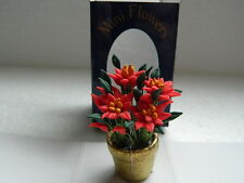 (X1.25) DOLLS HOUSE CHRISTMAS POINSETTIA PLANT