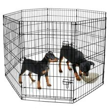 Pet Exercise Pen with Non-Corrosive Metal Frame Large Indoor & Outdoor Play
