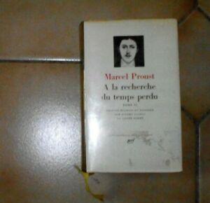 PROUST. A la recherche du temps perdu. T2. Nrf Gallimard. Pléiade. 1969. Usures.