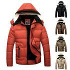 Fashion Men's Warm Jacket Fur Collar Winter Coat Outddor Hooded Parka Overcoat