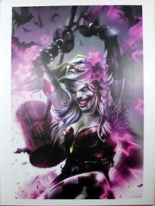 "BATMAN #93 (HARLEY QUINN) ART PRINT by Francesco Mattina ~ 12"" x 16"""